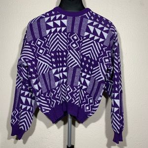 Vintage geometric abstract style sweater
